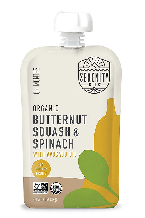 Serenity Organic butternut squash and spinach