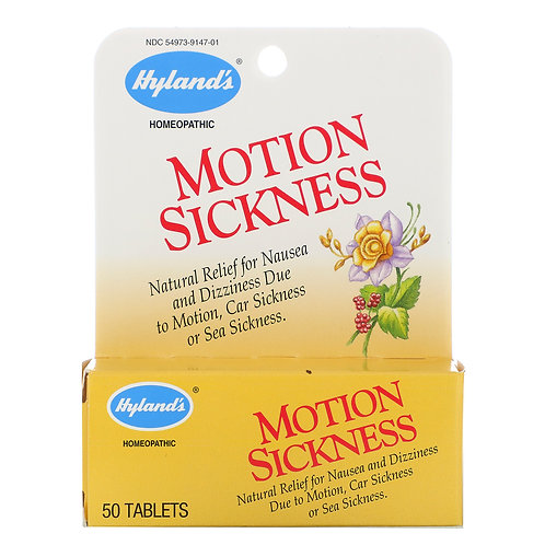 Hyland's Motion Sickness 50 Tablets