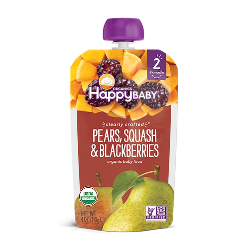 Happy Baby Pears Squash and Blackberries