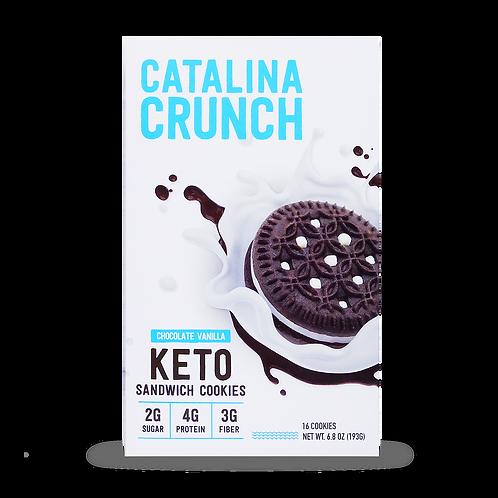 Catalina Crunch Keto Cookies Chocolate Vanilla 6.8 oz