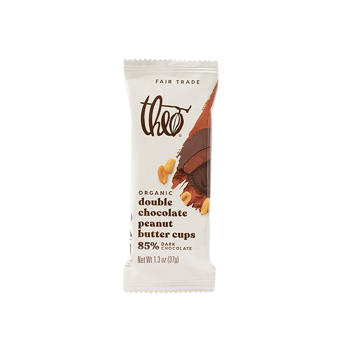 Theo Double Chocolate Peanut Butter Cups 1.3 oz