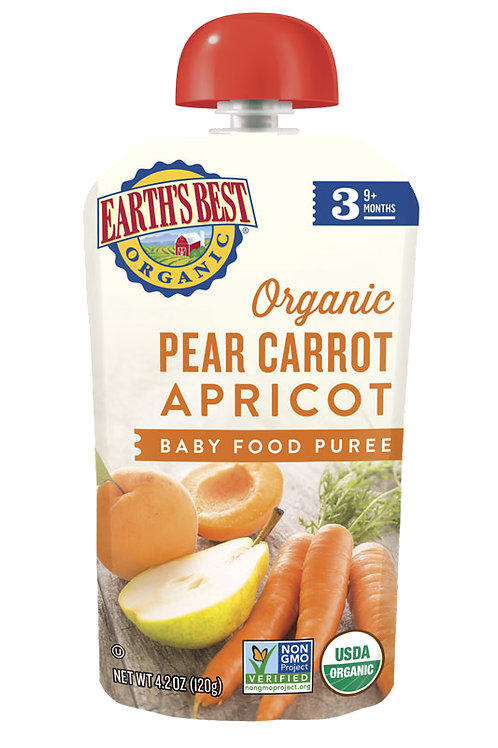 Earth Best Pear Carrot Apricot