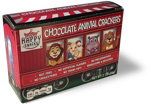Happy Snacks Chocolate Animal Crackers 2oz