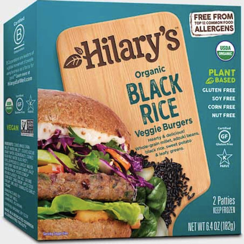 Hilary Organic Black Rice Veggie Burgers 6.4 oz