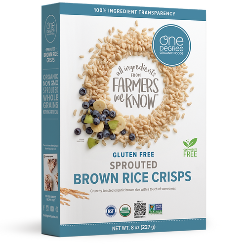 One Degree Brown Rice Crisp 10 oz