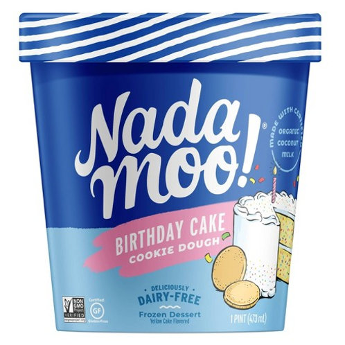 Nadamoo Birthday Cake Ice Cream 16oz