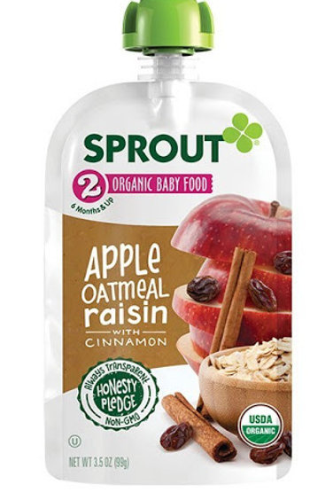 Sprouts Pak Apple and Oatmeal Raisin 3.5 oz
