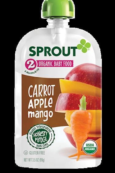 Sprouts Pak Carrot, Apple, Mango 3.5 oz