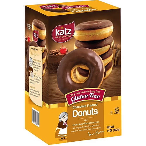 Katz Donuts Chocolate Frosted Gluten Free Donuts 14oz