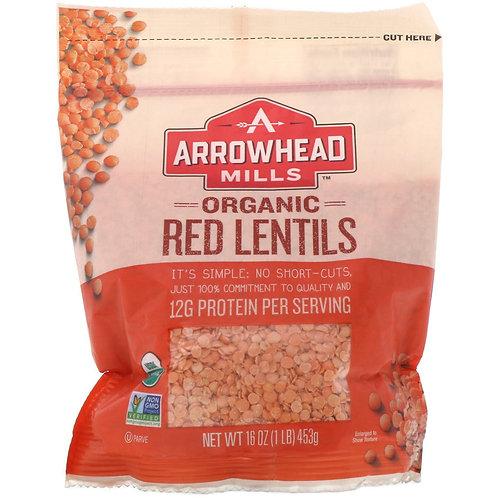 Arrowhead Organic Red Lentils