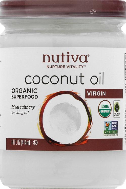 Nutiva Coconut Oil Virgin 14oz