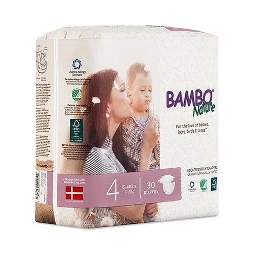 Bambo Nature Sixze 4 (30 Count)