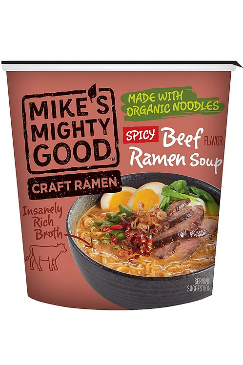 Mikey's Mighty Good Spicy Beef Ramen Soup