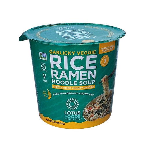 Lotus Food Garlicky Veggie Rice Ramen Noodle Soup