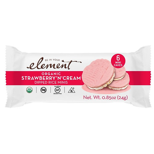 Be In Your Element Organic Strawberry N Cream Dipped Rice Mini 0.85 oz