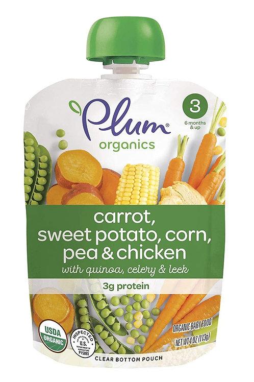 Plum Organic/ Carrot, sweet potato, corn, pear and chicken
