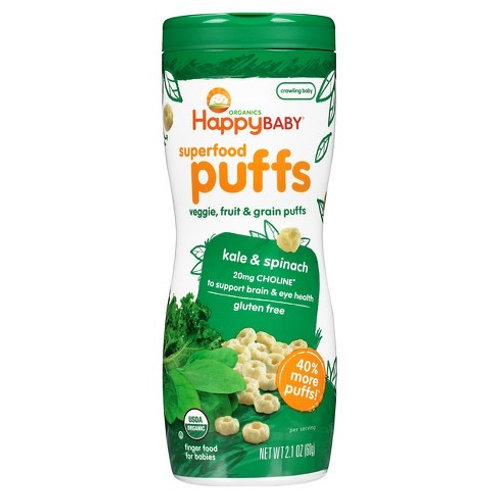 Happy Baby Puffs Kale and Spinach 2.1oz