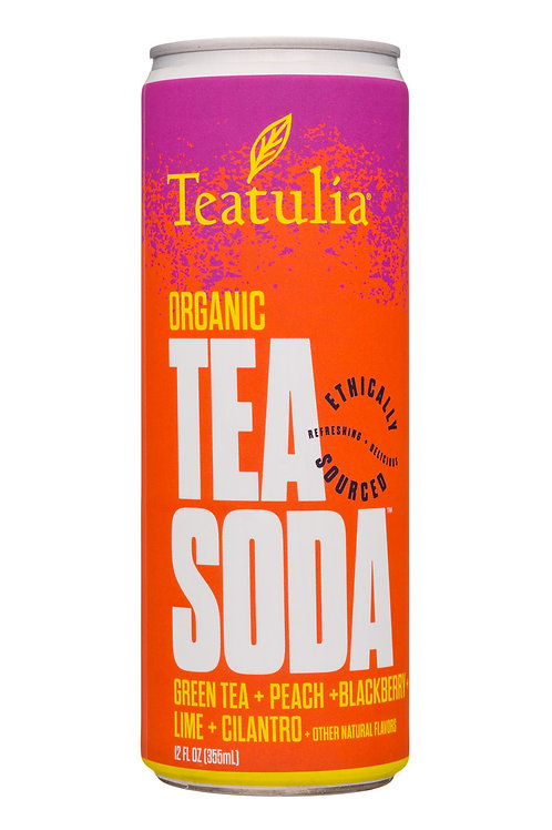 Organic Tea Soda 12oz. Each
