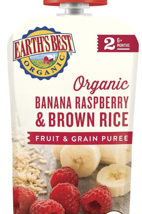 Earth Best Organic Banana Raspberry and Brown Rice