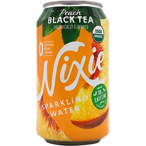 Nixie Peach Black Tea Sparkling Water 12oz