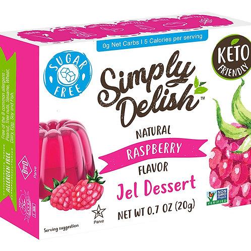 Simply Delish Natural Raspberry Jel Dessert 0.7oz