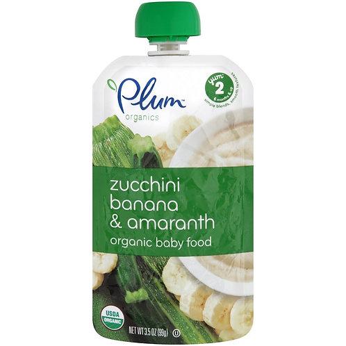 Plum Organic/ zucchini, banana and amarath