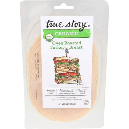 True Story Organic Oven Roasted Turkey Breast/ 6oz