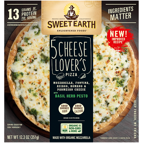 Sweet Earth 5 Cheese Lover's Pizza 12.3 oz
