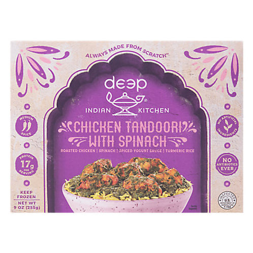 Deep Indian Kitchen Chicken Tandoori with spinach