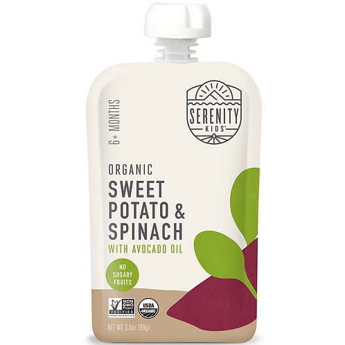 Serenity organic sweet potato and spinach
