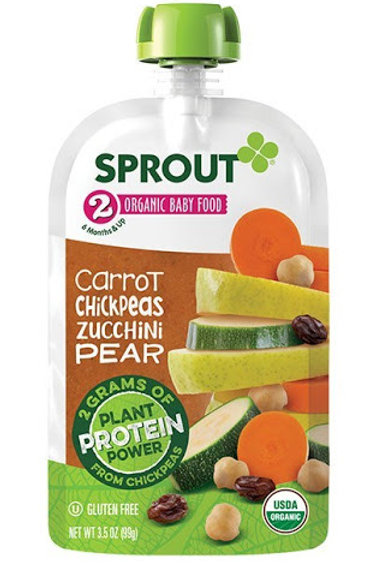 Sprout organic baby food/ carrot chickpea zucchini pear