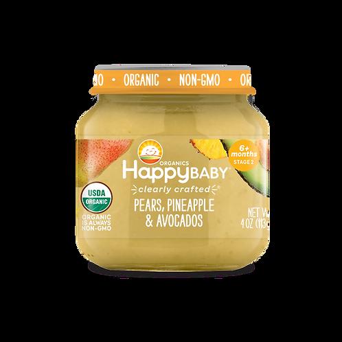 Happy Baby Pears, Pineapple and Avocado 4oz