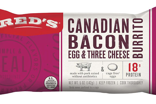 Red's Canadian Bacon Egg and Three Cheese