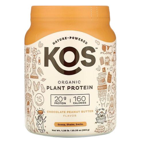 KOS Organic Plant Protein Chocolate Peanut Butter 20.56 oz