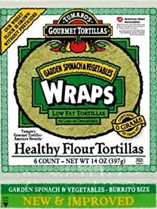 Spinach Tortillas/ 6 ct