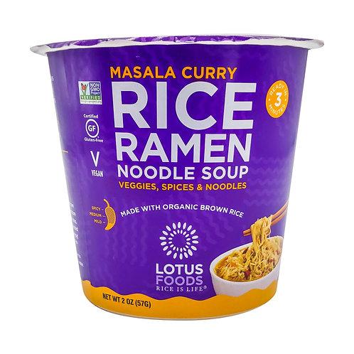 Masala Curry Rice Ramen Noodle Soup