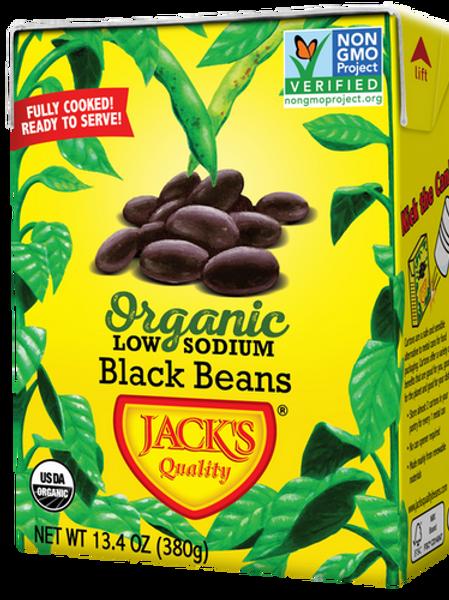 Jacks Quality Black Beans 13.4 oz