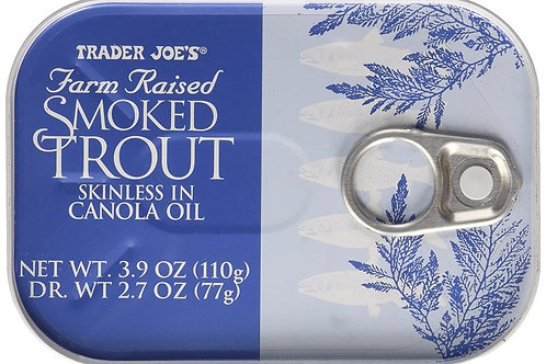 Trader Joe's Smoked Trout Fillets in Oil Skinless 3.9oz