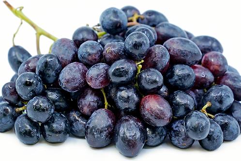 Organic Black seedless grapes/ lb
