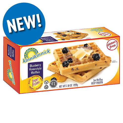 Kinnikinnick Blueberry Homestyle Waffles 7.8 oz