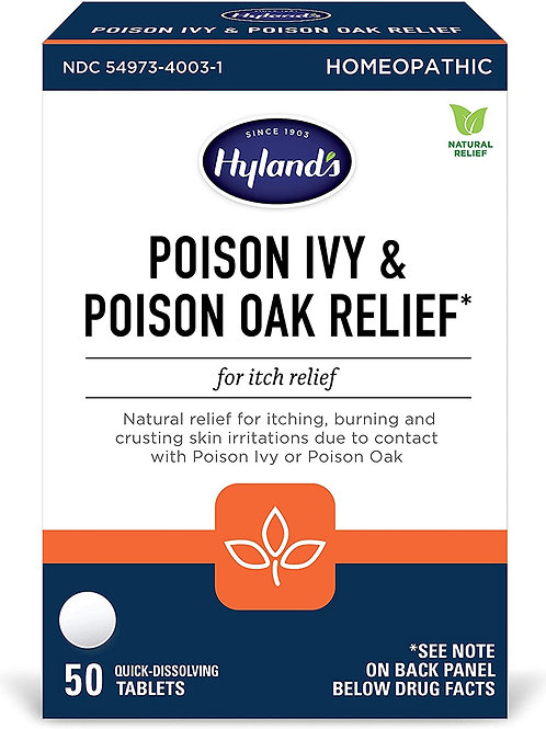 Hyland's Poison Ivy and Posion Oak Relief 50 Tablets
