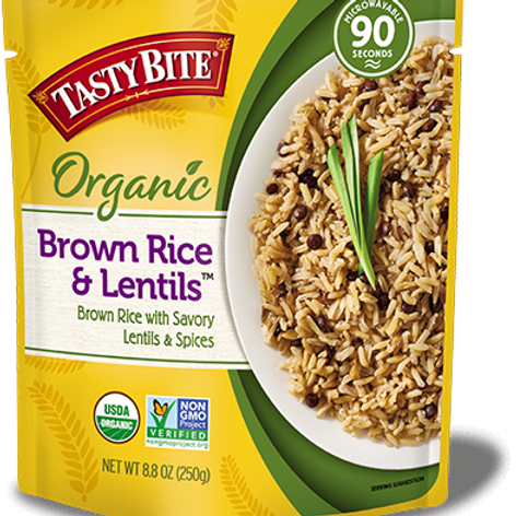 Tasty Bite Brown Rice and Lentils 8.8oz