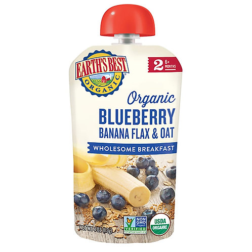 Organic Blueberry Banana Flax and Oats