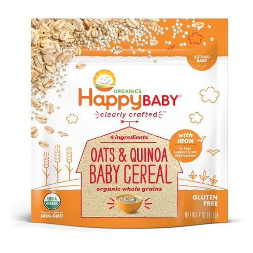 Happy Baby Oats and Quinoa Baby Cereal 7oz
