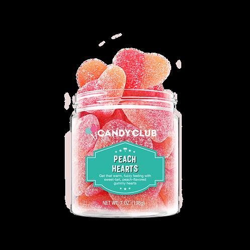 Candy Club Peach Hearts 8 oz