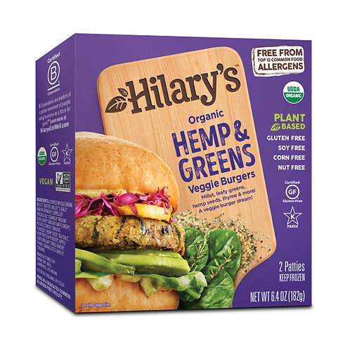 Hilary Organic Hemp and Greens Veggie Burgers