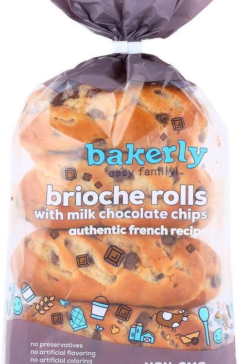 Bakerly Brioche Rolls with Milk Chocolate Chips