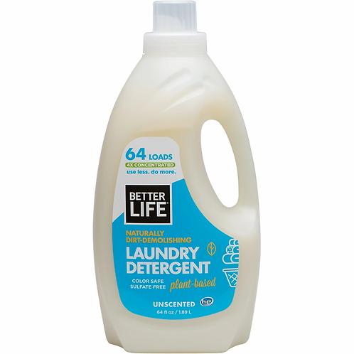 Better Life Laundry Detergent Unscent 64oz
