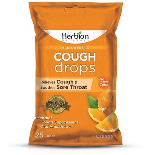 Herbion All Natural Orange Cough Drops/25 Drops