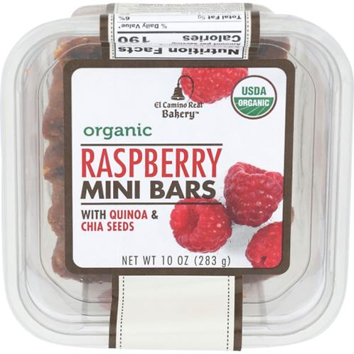 Rasberry Mini Bars with quinoa and chia seeds